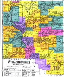 1875 Map of Sherburne