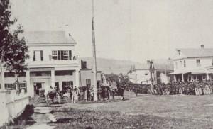 Photo of Civil War Troops training on Water Street