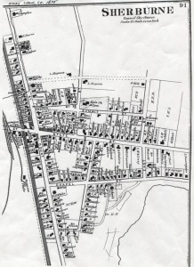 1875 Map of the Village of Sherburne