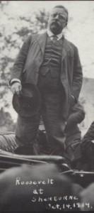 Photo of President Theodore Roosevelt at Sherburne, October 14, 1914