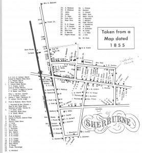 1855 Map of the Village of Sherburne