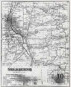 1875 Map of the Town of Sherburne NY