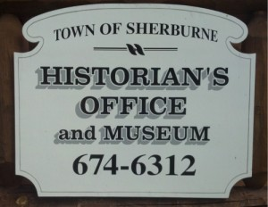 Sherburne's Historian's Office Museum Sign